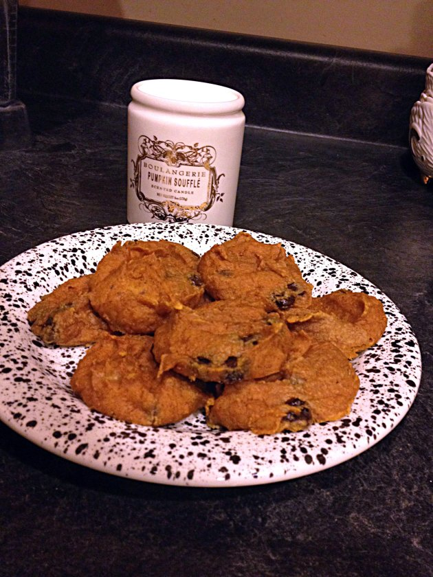 Almost Getting It Together Pumpkin Chocolate Chip Cookie Dough Cookies
