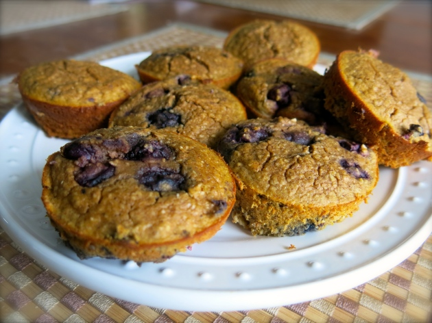 gluten free sweet potato blueberry muffins | almost getting it together