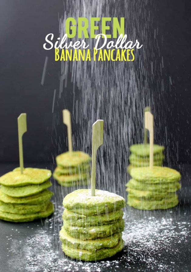 Green Silver Dollar Banana Pancakes by The Healthy Maven | almost getting it together