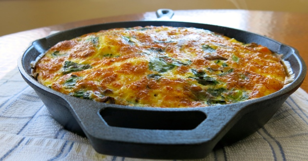autumn vegetable gluten free fritatta | almost getting it together