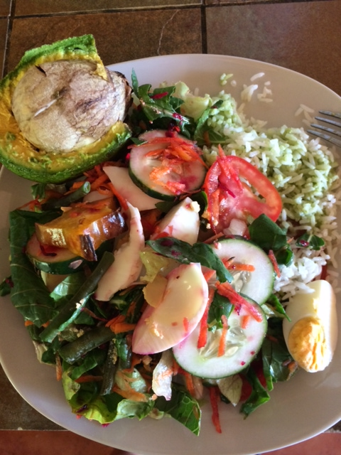 Nicaraguan Lunch: Huge Salad | almost getting it together