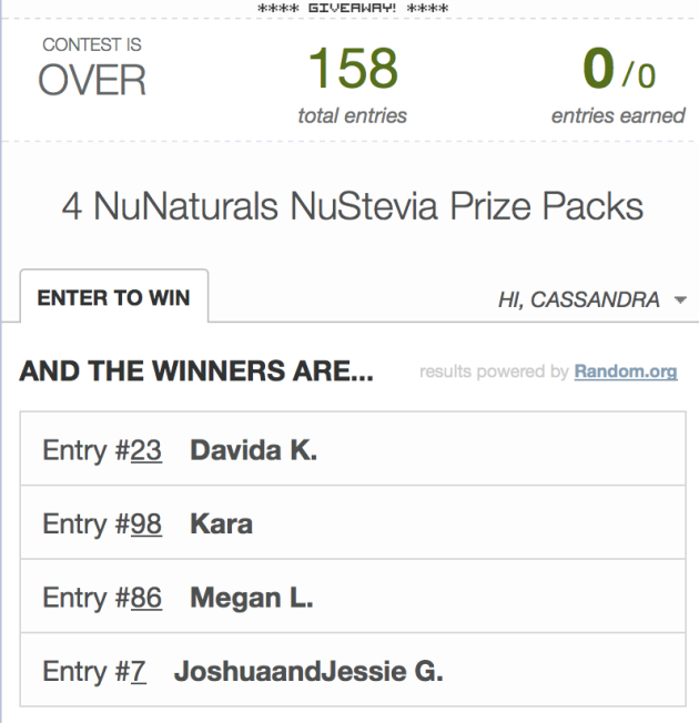 nunaturals giveaway rafflecopter| almost getting it together