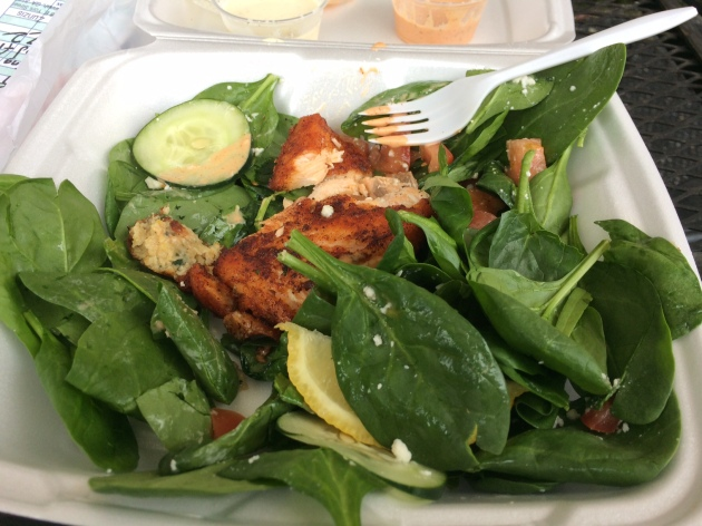 Zunzis Savannah Salmon Salad Zunzis sauce What I Ate Wednesday | almost getting it together